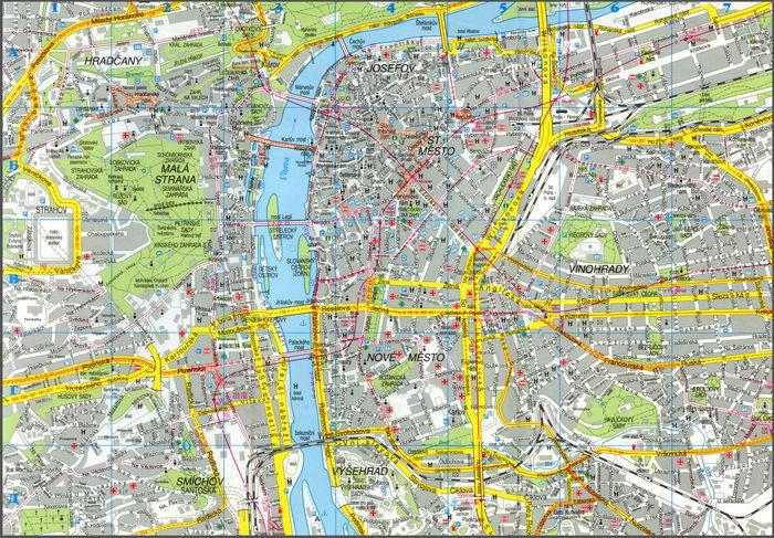 Карта праги онлайн