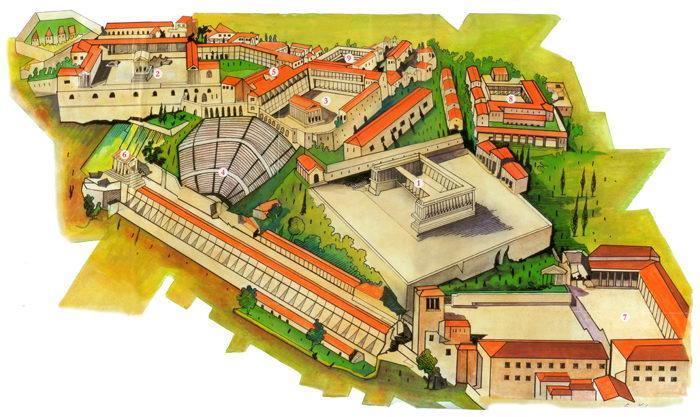 ...Акрополь античного Пергама Верхняя Агора, Алтарь Зевса, античный дорический Храм Афины, римский храм Траяна...