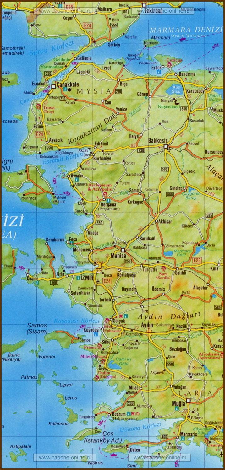 Провинция Денизли, Турция - Города и деревни мира