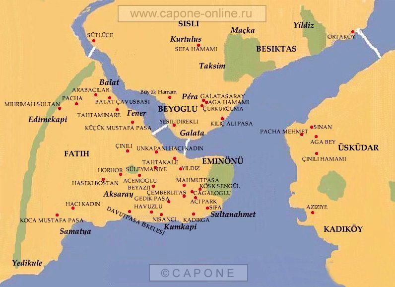 Карта расположения турецких