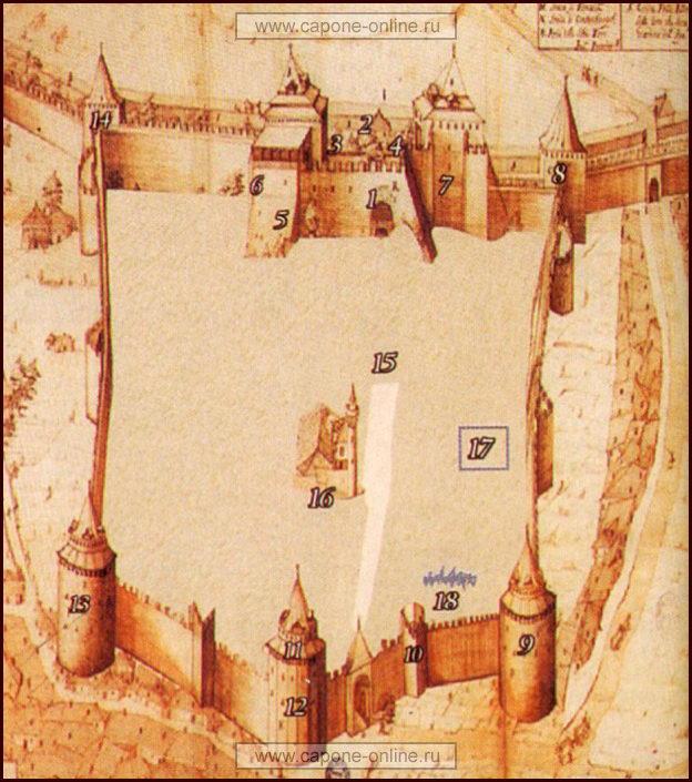 План крепости Йедикуле в