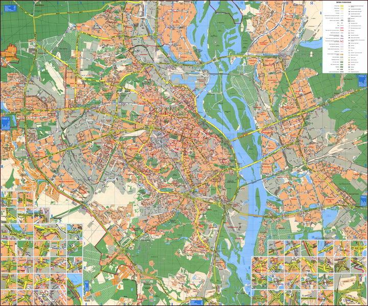 Карта Киева для автомобилистов