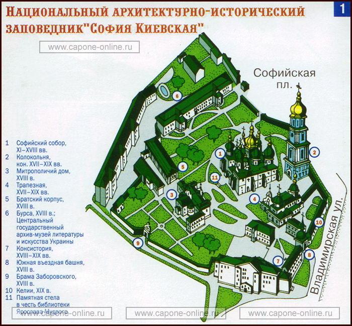 План Софийский собор Киев