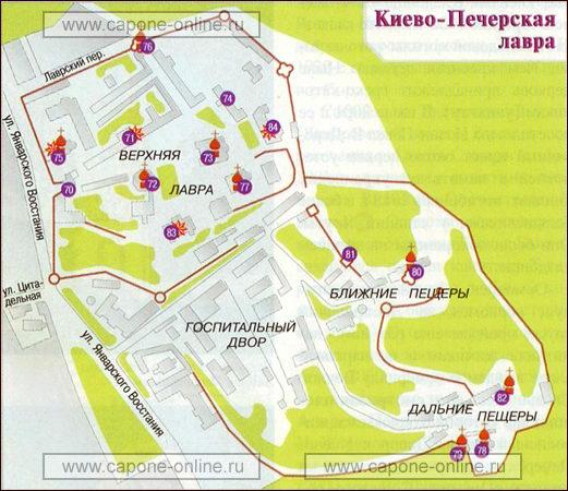 Киева Карта