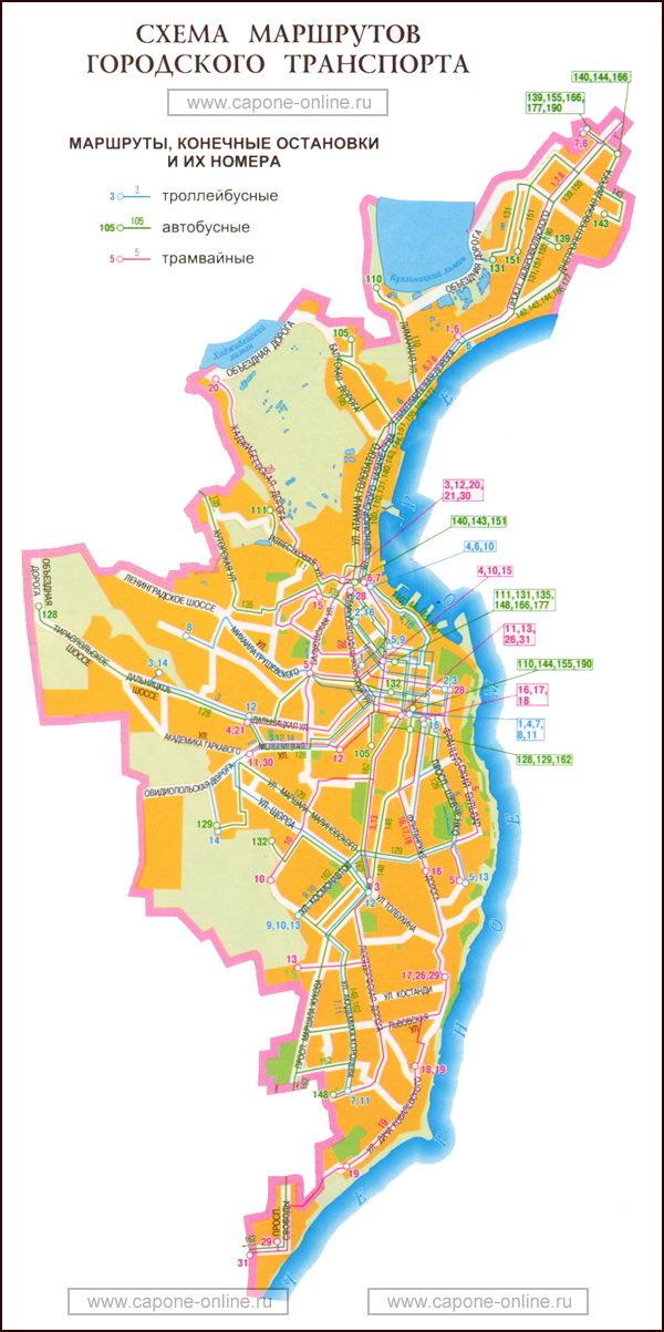 Карта маршруты транспорта