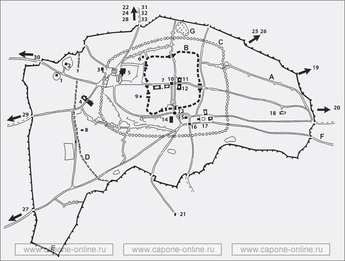 Карта средневековой Бухары