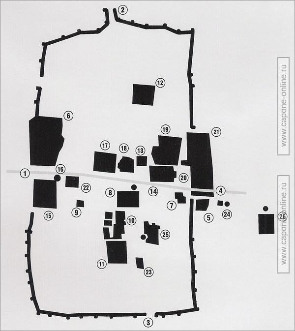 Карта средневековой Хивы