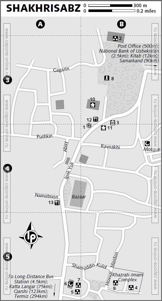 Карта Шахрисабз