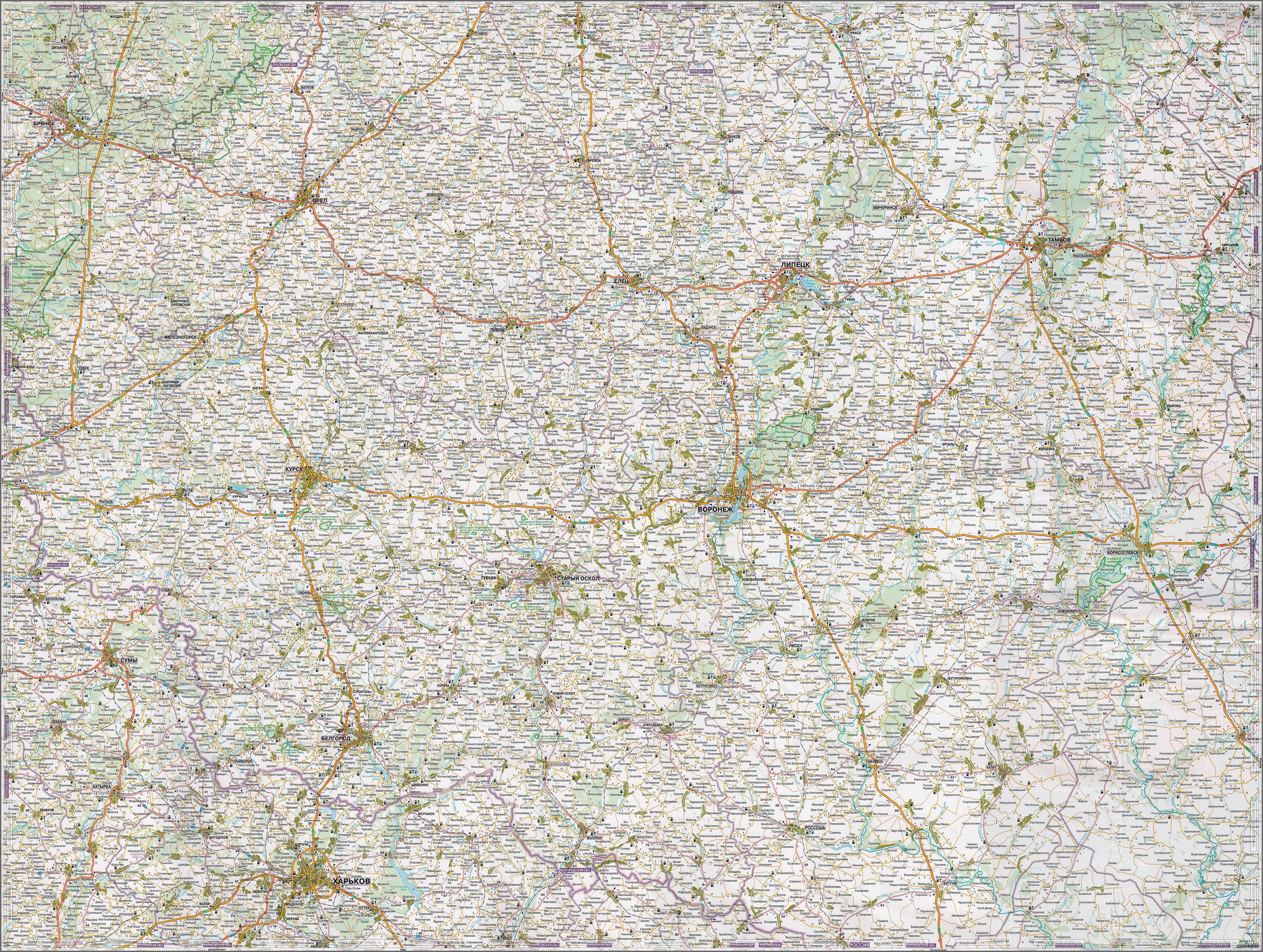 Моршанск Подробная Карта