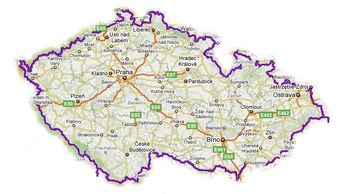 Погодная карта Чехии - прогноз