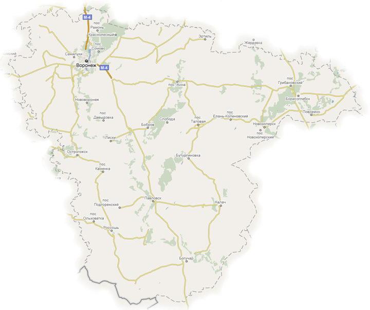 Погодная карта Воронежского
